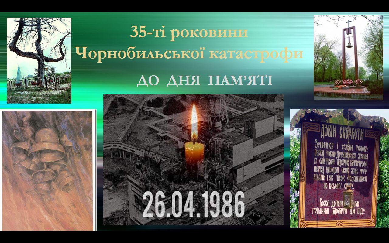 До 35 роковин Чорнобильської катастрофи класні керівники 1-11 класів провели виховні години